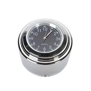 Blanc SODIAL Thermometre de temperature de montage de poignee de moto et de velo etanche 7//8 pouce pour YAMAHA Harley