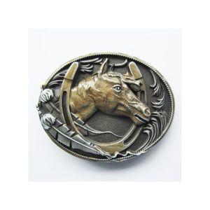 79c73fdd11d7 CEINTURE ET BOUCLE boucle de ceinture tete de cheval dans un fer coun