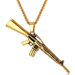 PENDENTIF VENDU SEUL MESE London M4A1 Collier En Or 18K Pistolet Penden c120d4a51f6a