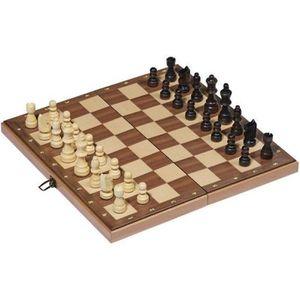 JEU SOCIÉTÉ - PLATEAU Jeu d'échecs en bois pliable 30x30 cm
