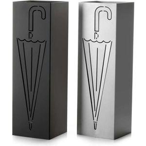 PORTE-PARAPLUIE Porte-parapluies urbain 15x15x49 cm (Noir)