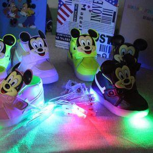 BASKET New European Fashion éclairé LED enfants basket...