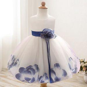 fd98eceefb0e2 ROBE DE CÉRÉMONIE LN® Petite Fille Robe de Baptême bébé Florale Robe