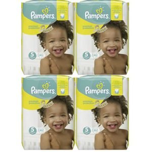 COUCHE Pampers Premium Protection Taille 5 Junior 11-23kg