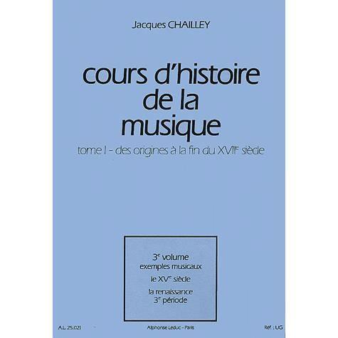 LIVRE MUSIQUE Cours d'histoire de la musique