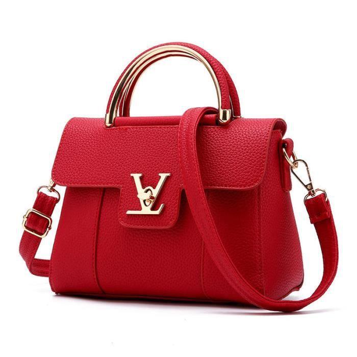 8399f4ff06 sac à main cuir sac à main sac luxe femme cuir rouge sac a bandouliere femme  meilleur 2017 sac femme de marque Nouvelle arrivee