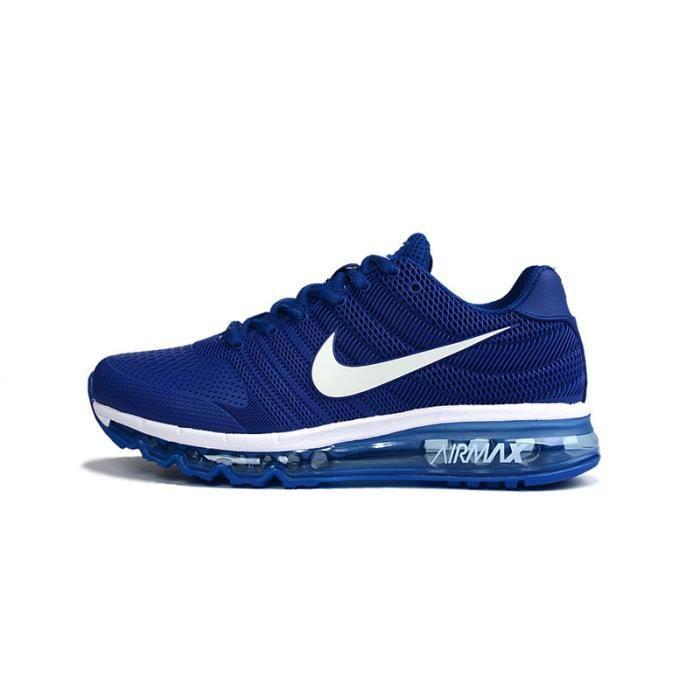 nike air max 2017 baskets chaussures de sport bleu