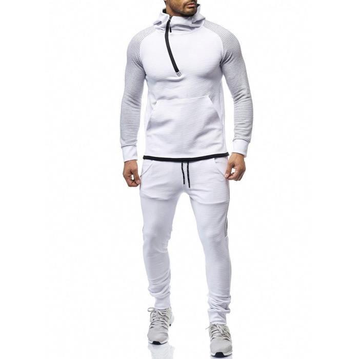 09b59736143ed Ensemble jogging pour homme Survêtement 1082 blanc Blanc Blanc ...