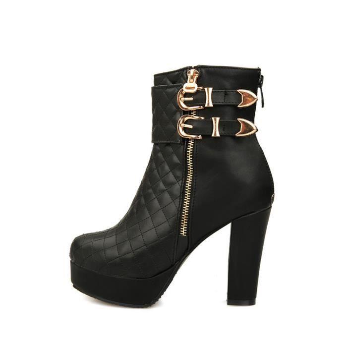 Bottines à talons haut Mental Moraillon Chaussures Chevalier Zipper femmes 2505316