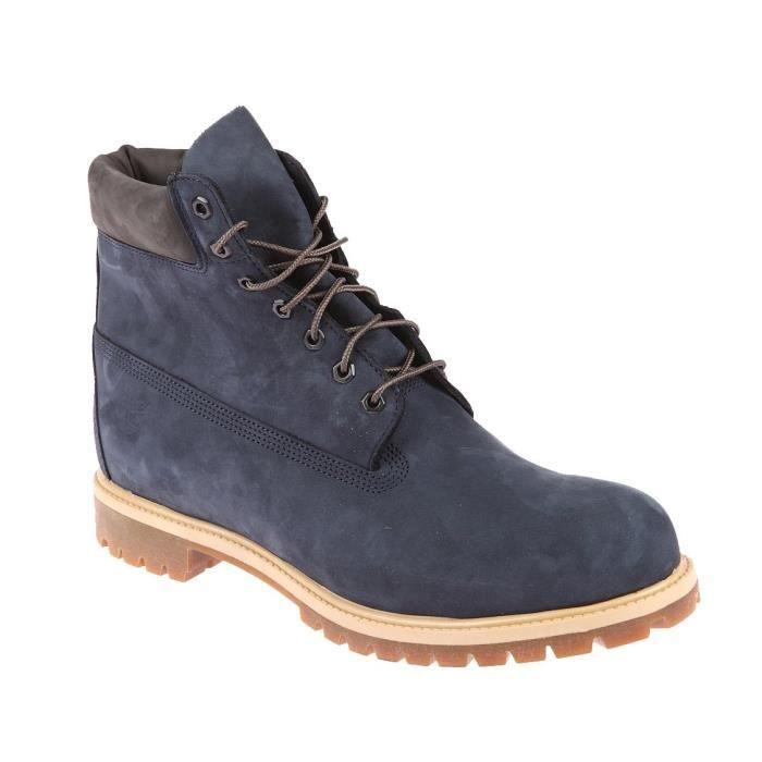 d8616c087e69 Boots grande pointure Timberland montant en cuir bleu Bleu Bleu ...