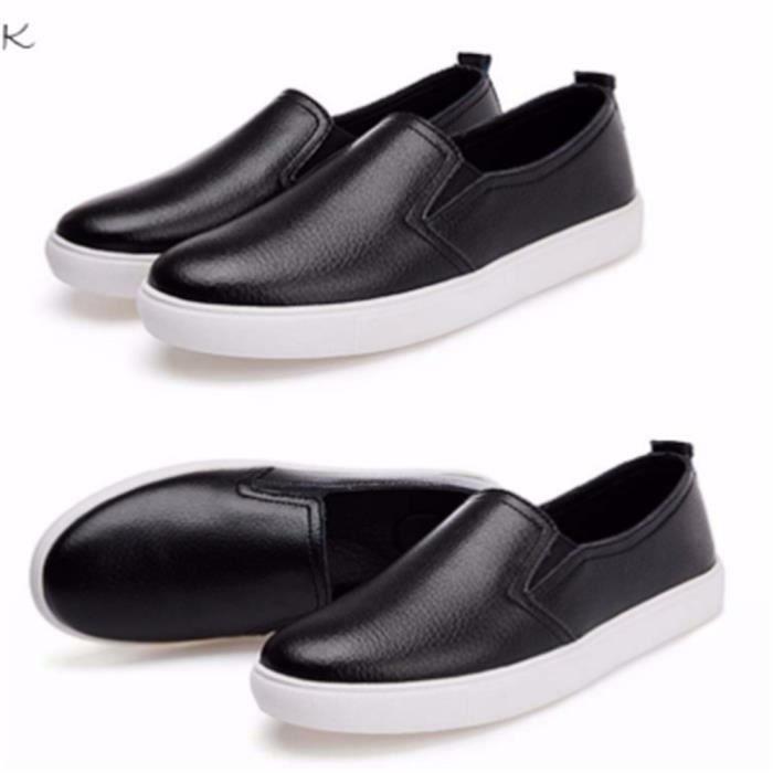 Chaussures Femmes ete Loafer Ultra Leger Chaussures BLLT-XZ052Noir36