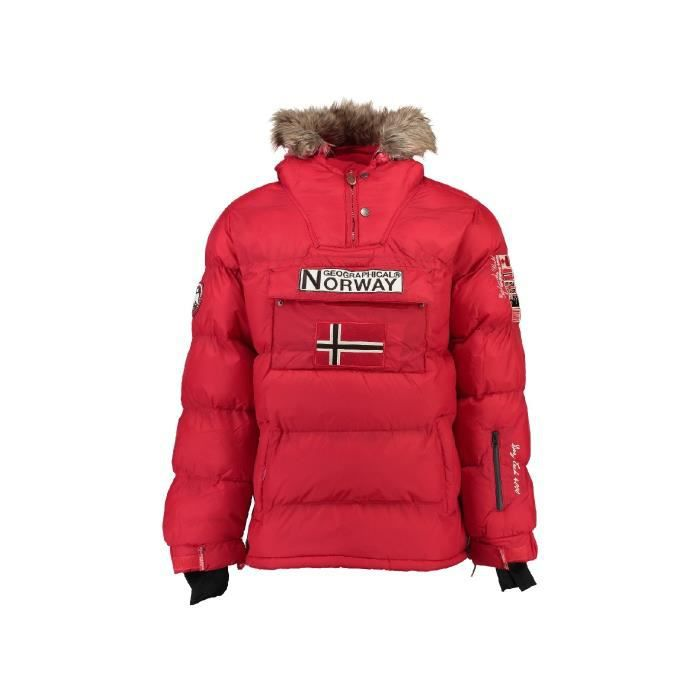 Homme Rouge Passe Norway Parka T Te Brice Geographical Bleu pwtw0qB