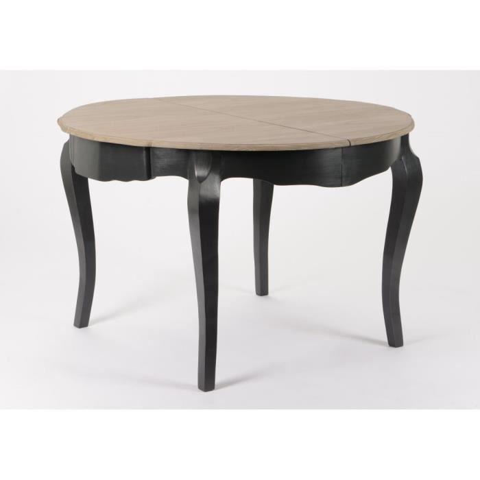 Table de repas ronde Baroque CELESTINE ARDOISE plateau bois ...