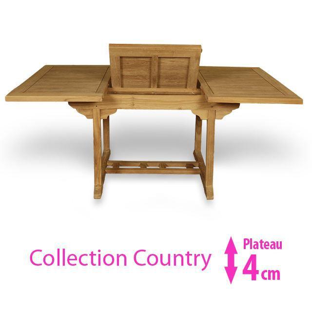 table bois extensible pliante