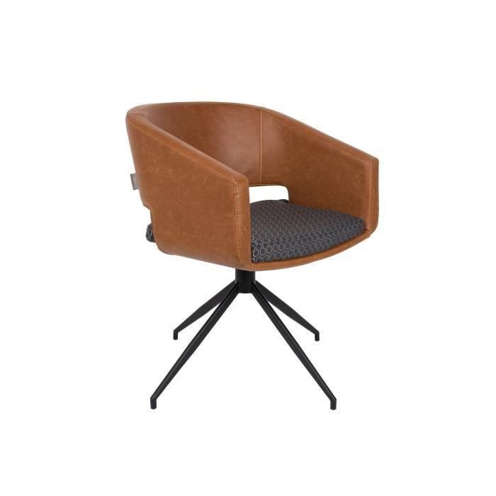 fauteuil scandinave design beau zuiver gris et marron vintage achat vente fauteuil cdiscount. Black Bedroom Furniture Sets. Home Design Ideas