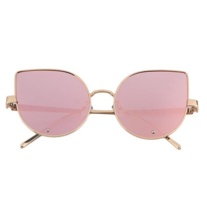 YKS fashion Beat Street lafflux de petits chantiers féminins lunettes de soleil lunettes à montures dor diamant bords or rose