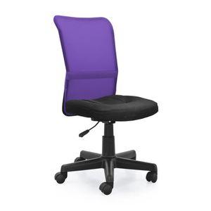 fauteuil de bureau violet achat vente fauteuil de bureau violet pas cher cdiscount. Black Bedroom Furniture Sets. Home Design Ideas