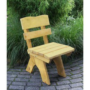 Chaise salon de jardin design rustique bois pin traité imprégnié ...