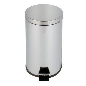 POUBELLE - CORBEILLE COLLECTEUR à pédale 20L inox miroir