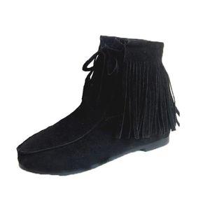 BOTTINE SIMPVALE Femme Fille Boots Duveteux Décoré Fran...