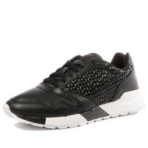 2a78fe7f682c23 BASKET Omega X Woven Femme Chaussures Noir Le Coq Sportif
