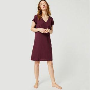 Mens 100% Coton Chemise De Nuit à Rayures Bleu Lit Sommeil Boutonné Sleepwear & Robes Clothing, Shoes & Accessories