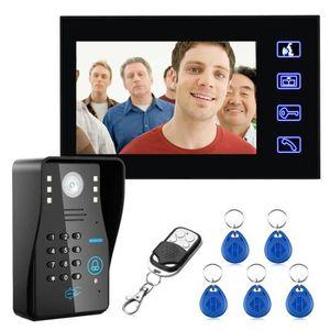 INTERPHONE - VISIOPHONE 7'' filaire sonnette rfid mot de passe visiophone