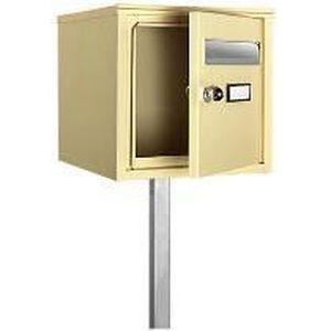 bo te lettres beige pratiquement inviolable achat vente boite aux lettres bo te. Black Bedroom Furniture Sets. Home Design Ideas