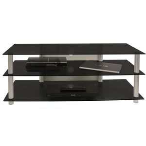 MEUBLE TV VCM 14155 Zumbo 110 Meuble TV Aluminium-Verre Arge