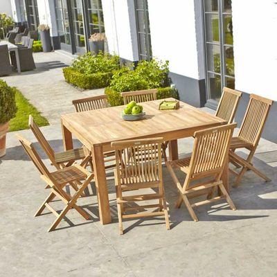 Salon de jardin en TECK BRUT QUALITE GRADE A - Achat / Vente salon ...