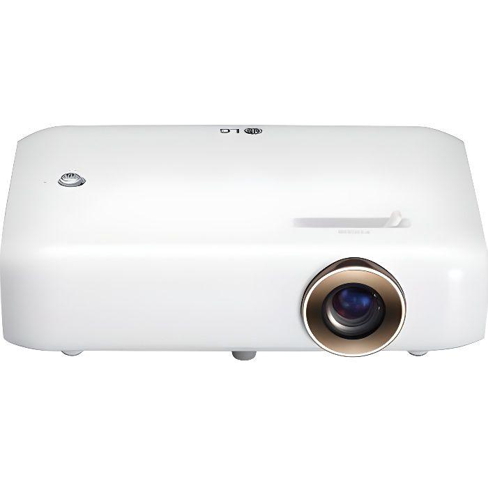 LG PH550G Vidéoprojecteur de poche LED DLP - HD (1280x720) - 550 Lumens - 3D Ready - HDMI/VGA - Bluetooth audio - Batterie intégrée
