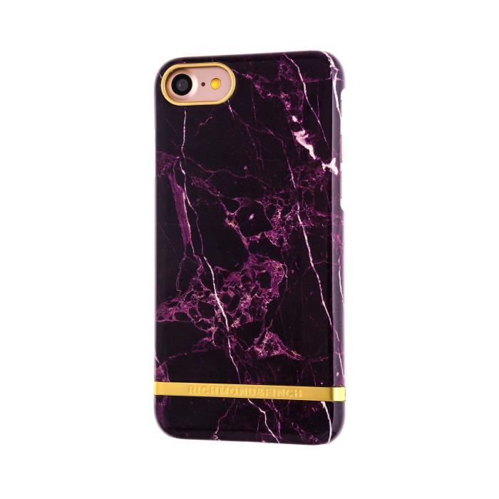 RICHMOND & FINCH Coque Marble Glossy pour iPhone 7 - Rouge