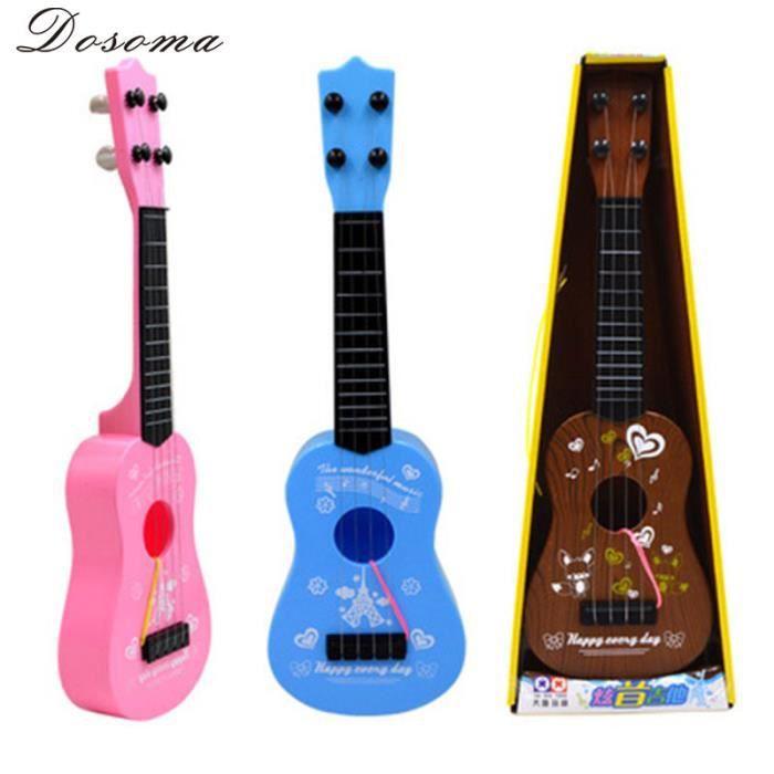 4 cordes mini guitare jouet pour enfants instrument de musique de l 39 imitation bleu achat. Black Bedroom Furniture Sets. Home Design Ideas