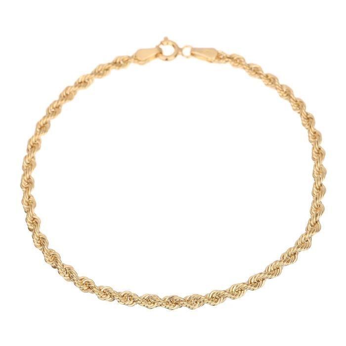 BRACELET - GOURMETTE Les Bijoux d'Emma - Bracelet en Maille Corde - OR