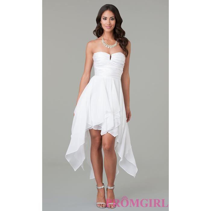 l gante robe blanche courte en mousseline de soie de soir e robe formelle robe maxi robe de. Black Bedroom Furniture Sets. Home Design Ideas