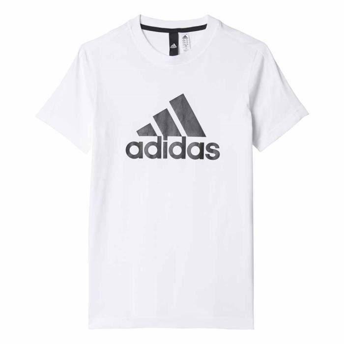 b06693ecfeed2 Vêtements enfant T-shirts casual Adidas Essentials Logo S s - Prix ...