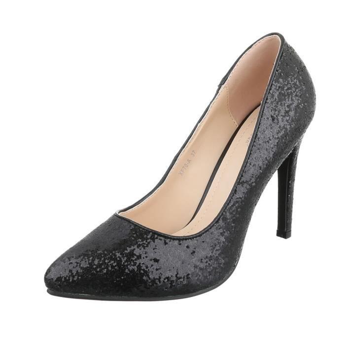 Femme chaussures escarpin High Heels noir 40