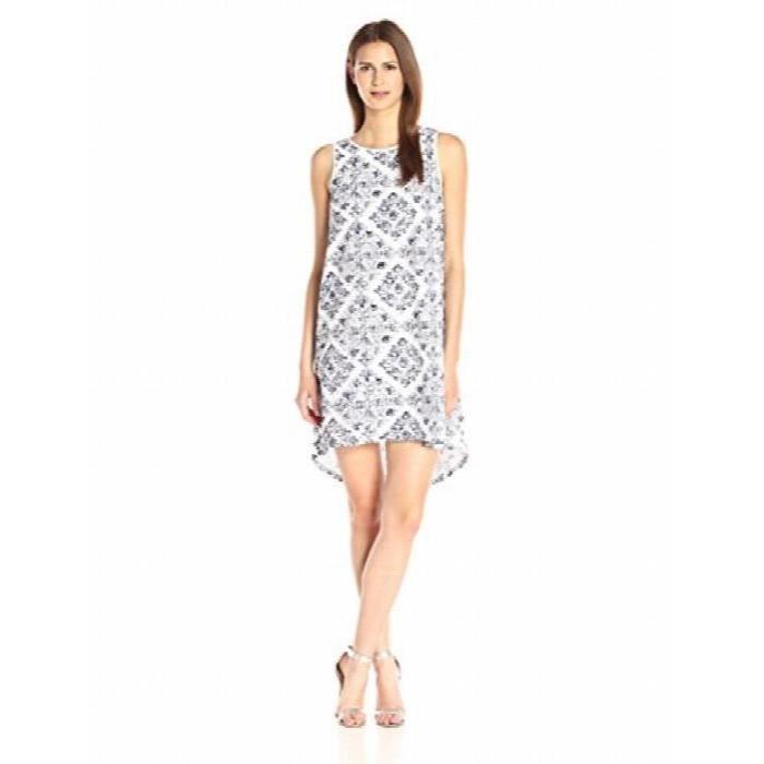 Adrianna Papell Imprimer Emblished Œillet Dress EG4X3
