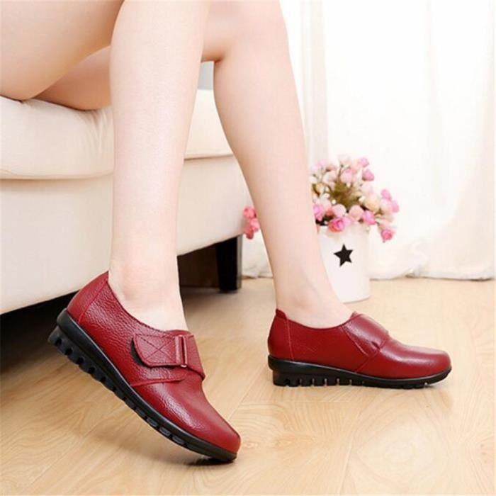 Moccasin femmes Marque De Luxe Haut qualité En Cuir Chaussures Poids Léger Durable Antidérapant 2017 ete Grande Taille Kgc6Y8