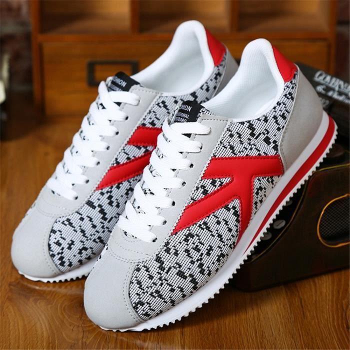 44 Homme gris Sneaker gris Antidérapant Gris gris 39 Chaussure Cool Unie Couleur r0A7qgxr