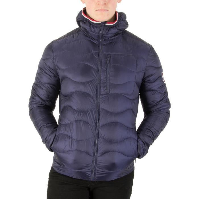 Superdry Homme Wave Quilt Jacket, Bleu