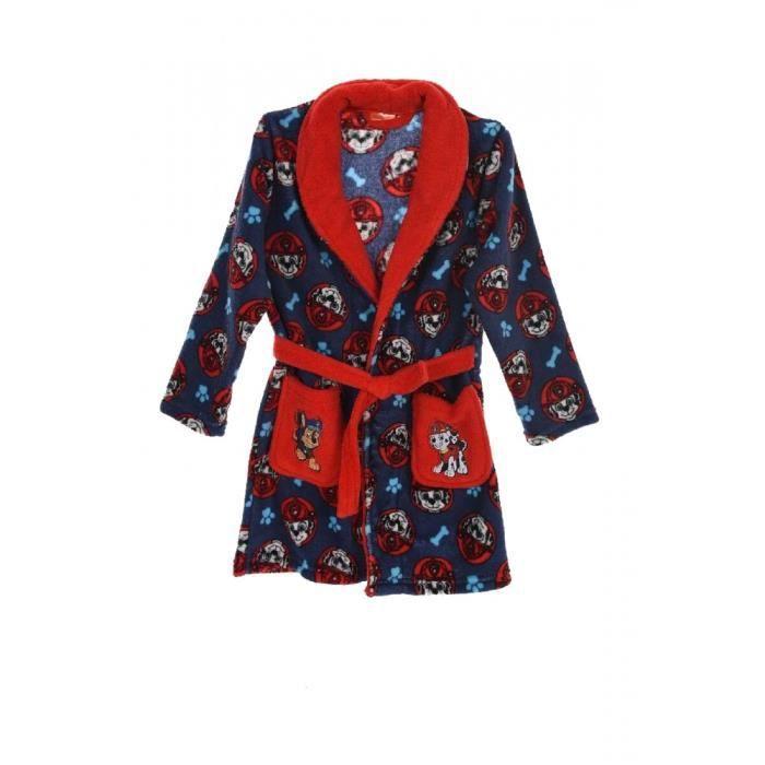 84fa30a59ffa0 Peignoir - Robe de chambre Pat Patrouille rouge et bleu Taille de 3 à 6 ans