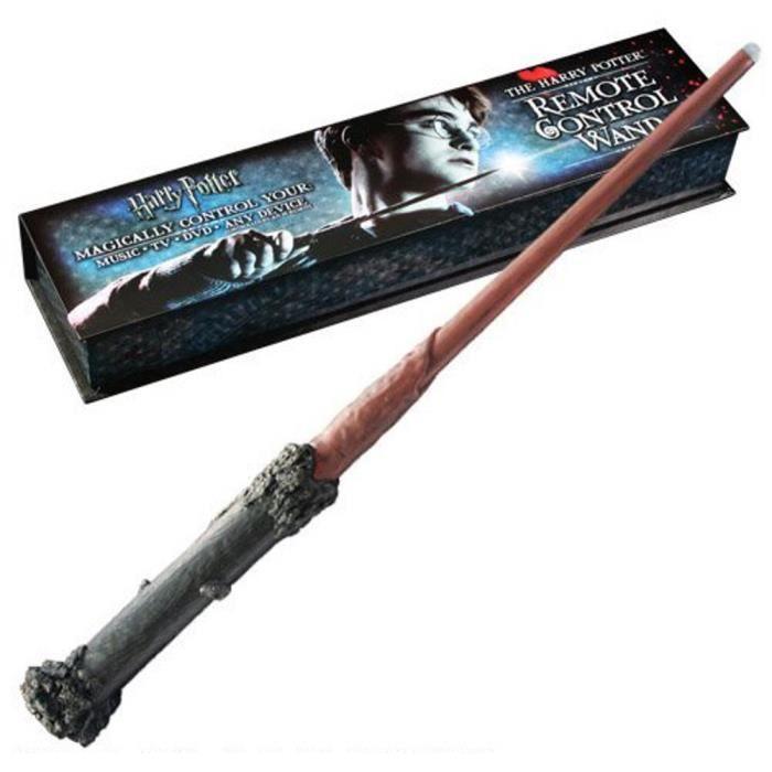 l 39 officiel harry potter tv dvd t l commande baguette wand. Black Bedroom Furniture Sets. Home Design Ideas