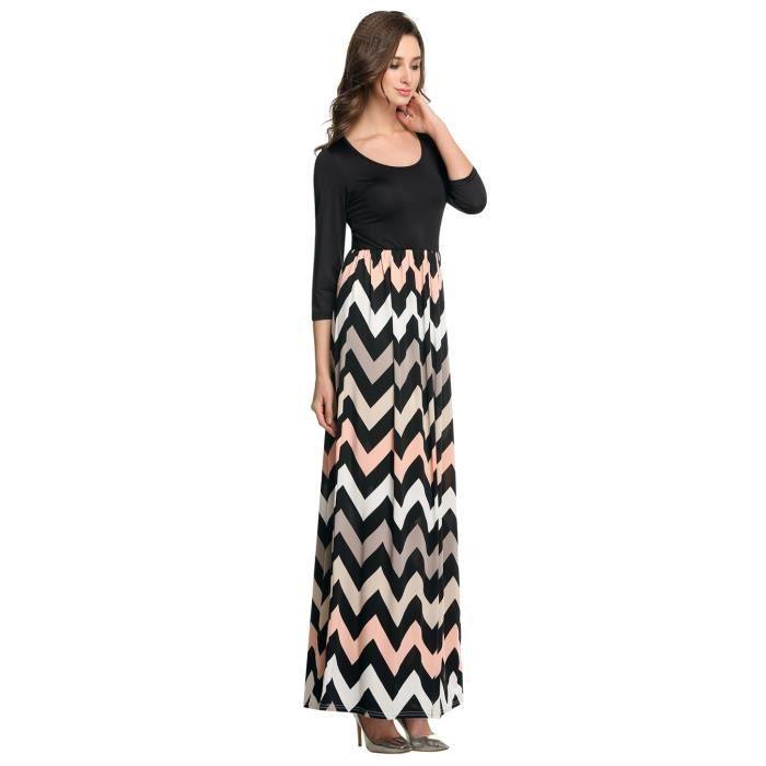robe longue de plage femme manches 3-4