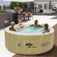 SPA COMPLET - KIT SPA Spa Gonflable 4 places Rond 180X180X65CM Massage B