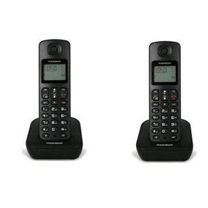 Thomson Téléphone Dect Mica Duo Noir