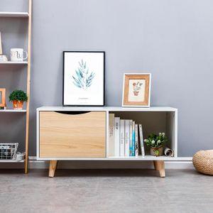 CONSOLE EXTENSIBLE Table Basse Moderne, avec Tiroir, pour Salon, Bure
