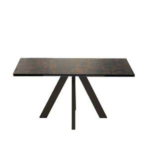 Table Extensible 160 240 Cm Sylos Zendart Selection Noir Achat