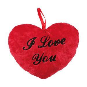 PELUCHE Coussin Peluche coeur 10 cm avec formule I Love Yo