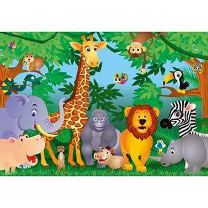 AFFICHE - POSTER Poster mural géant Animaux de la jungle  366 x …